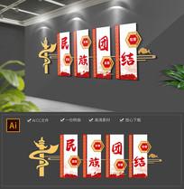 红色华表党建基层民族团结文化墙