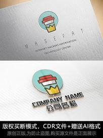 奶茶店logo标志商标设计