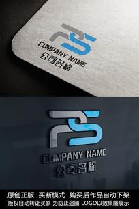 PS字母logo标志字母商标设计