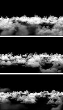 高天上流云云层穿梭平移视频素材