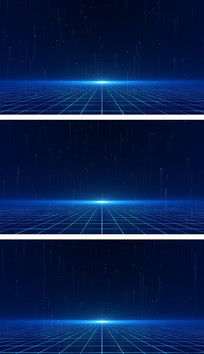 科技空间粒子方格地面峰会背景视频素材