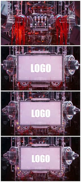 科技logo演绎片头视频模板