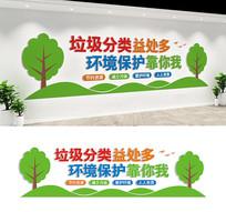 垃圾分类宣传标语文化墙