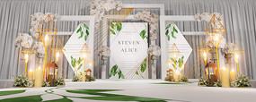 绿色婚礼主题背景
