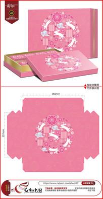清新可爱中秋节月饼包装设计