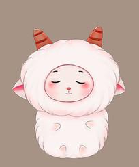 原创可爱卡通羊宝宝