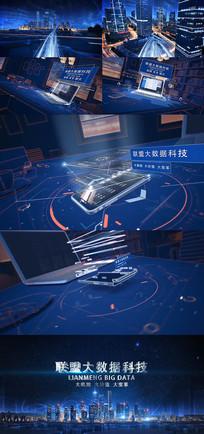 互联网金融城市科技片头震撼大气建筑片头视频模板