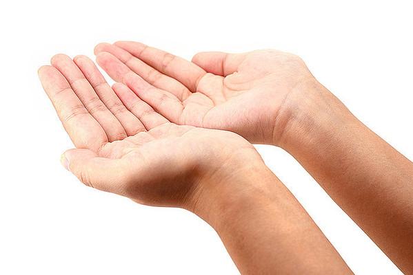 双手接东西动作