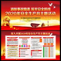 2020年安全生产月展板设计