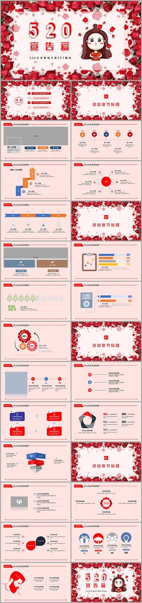 520情人节活动策划PPT模板