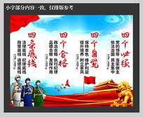 党建中国梦四个底线挂图