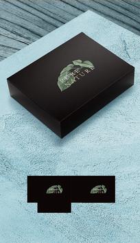 高档礼盒包装平面展开图
