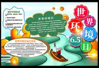 世界环境日保护地球宣传手抄报设计