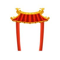 原创中国红城门楼