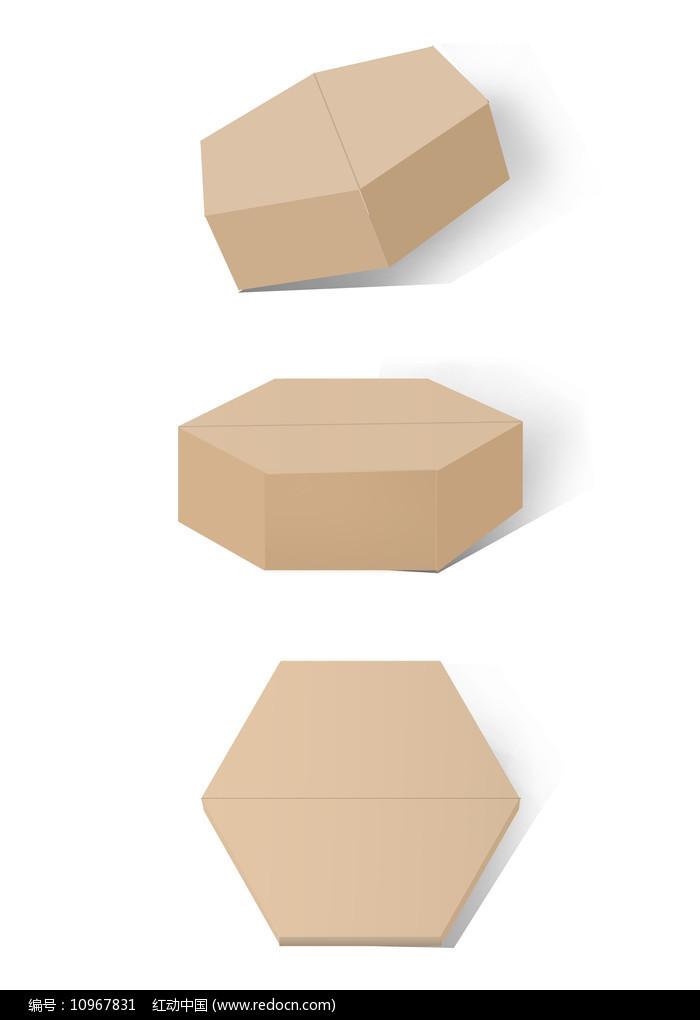 纸盒包装样机六边纸盒图片