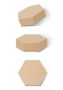 纸盒包装样机六边纸盒