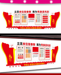 党员活动室党建文化墙