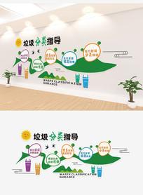 绿色环保健康倡导垃圾分类文化墙