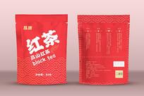 日式风简洁高端高山红茶包装