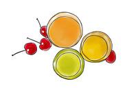 手绘水果汁水果美食冷饮