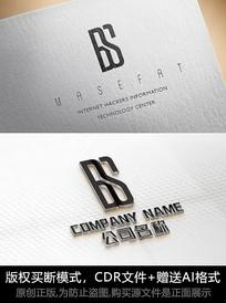 BS字母logo标志设计