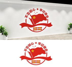 不忘初心牢记使命党员文化墙设计