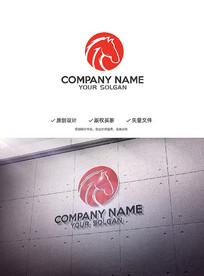 创意马头造型设计企业标志