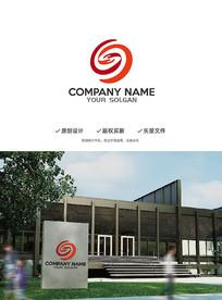 大气S字母握手合作造型设计企业标志