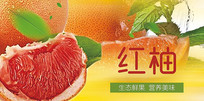 高端大气企业红色柚子宣传海报