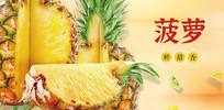 高端大气企业绿色菠萝宣传海报
