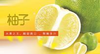 高端大气企业绿色柚子海报
