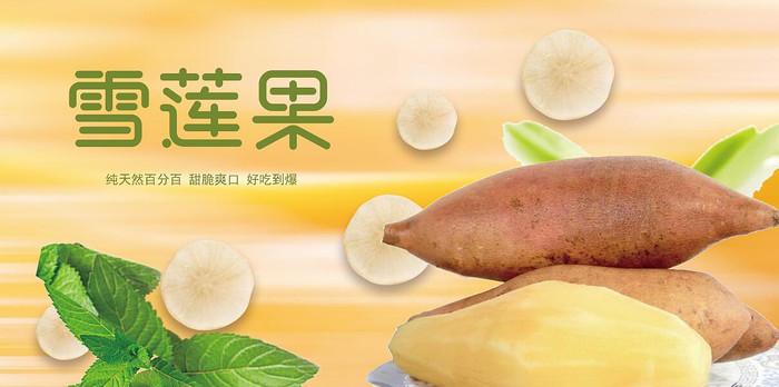 高端大气企业雪莲果宣传海报