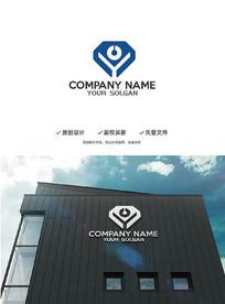 简约Y字母钻石造型设计企业标志LOGO