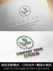 绿色叶子logo标志公司商标设计