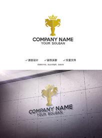 马元素奖杯创意造型设计企业标志LOGO