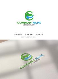 水墨风山水风景旅游企业标志