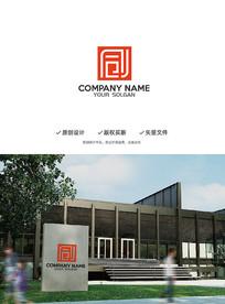 同创汉字创意结合印章造型设计企业标志