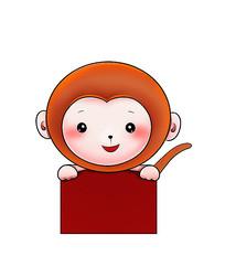 原创可爱卡通动物猴子
