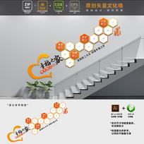 职工风采楼梯楼道文化墙