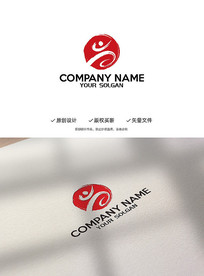 中国风武术创意造型标志LOGO