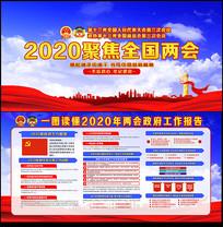 2020两会政府工作报告宣传栏