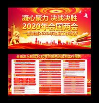 2020年全国两会政府工作报告展板