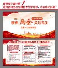 2020全国两会政府工作报告要点解读展板