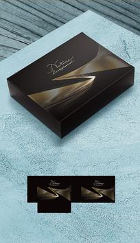 黑金礼盒包装平面展开图
