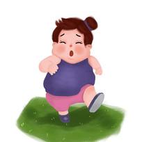 减肥的女人