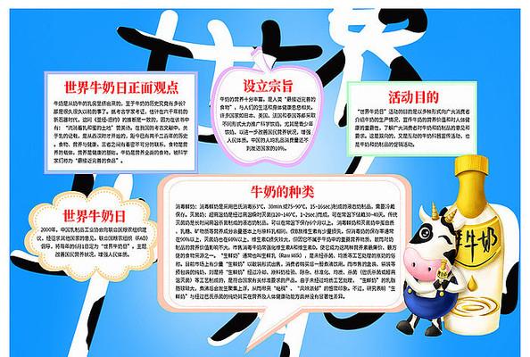 世界牛奶日手抄报设计