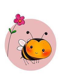 原创可爱卡通花蜜蜂