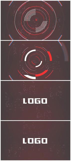 故障logo片头AE模板