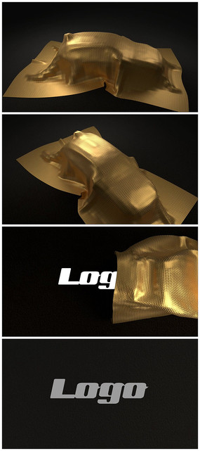 汽车金箔拉开logo视频模板
