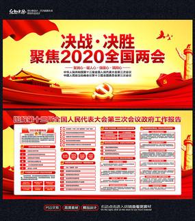 2020全国两会展板设计